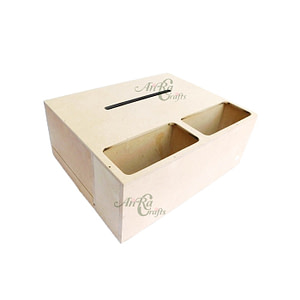 Mdf Tissue Box With Partition