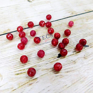 Red Natural Agate Stone Beads 6mm