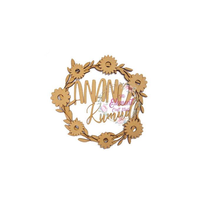 Wreath Style Name plate
