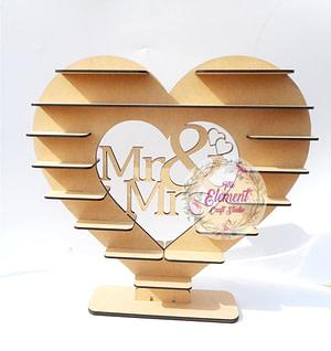 Heart Shaped Mr & Mrs Chocolate Display