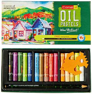 camel oil pastels 15 shades