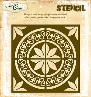 Circle Tile Stencil 1