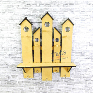 The Houses Key Holder With Shelve