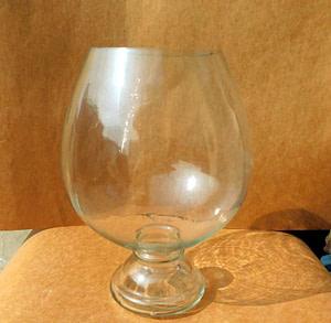 Wine Glass Base Jar