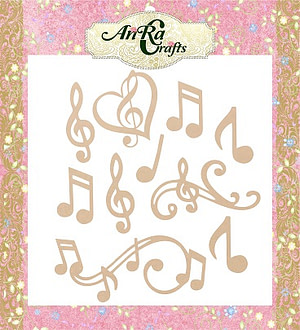 wooden cutouts with shape of music instrument, mdf made, crafting product