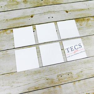 White Acrylic Square Coaster Set Of 6