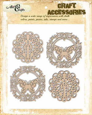 wood embellishments for crafts
