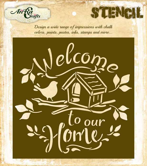 Welcome Home Stencil