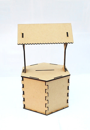 mdf hut house piggy bank,mdf product