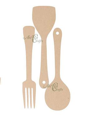 Mdf Cutlery Set