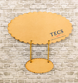 Scalloped Oval Nameplate With Plank