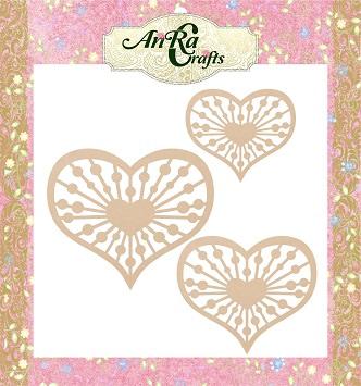 heart shape wooden cutouts