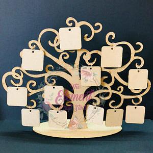 mdf tree photo frame