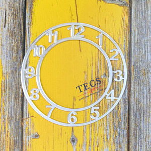 Silver Acrylic Number Clock Dial
