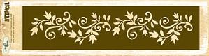 Floral Border Stencil 2