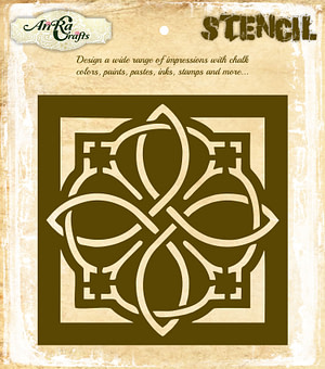 Damask Tile Stencil 3