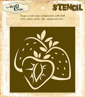 Strawberry Bunch Stencil