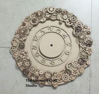 mdf clock,wood,craft,bases
