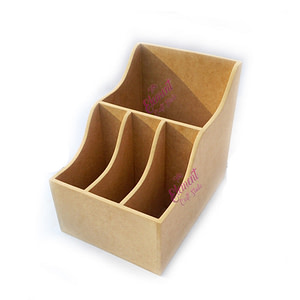 pen stand made in wood and mdf, multipurpose use, crafting product