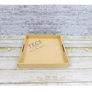 12x12 Inches Flat Handle Tray
