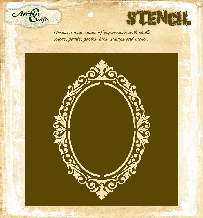 Oval Ornate Stencil 1