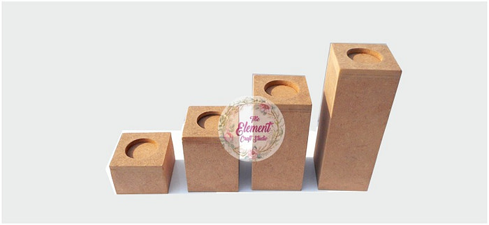 mdf long candle stand