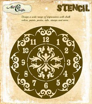 Clock Border Stencil 6X6 Inches