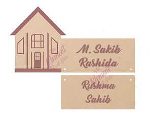 nameplate made in mdf,house decor nameplate, made in wood