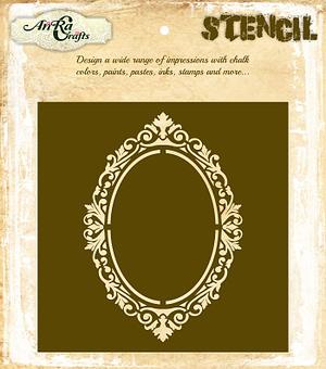 Oval Frame Stencil 1