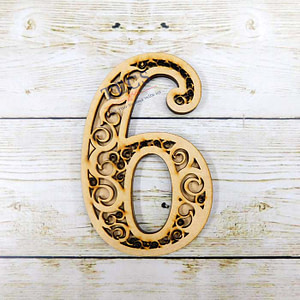 Filigree Number-6