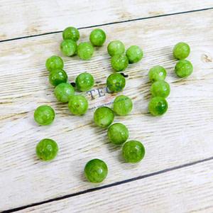 Moss Green Natural Agate Beads 10mm