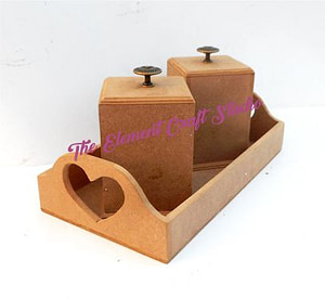 mdf two jar with tray