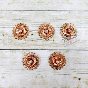 Copper Flower Charm