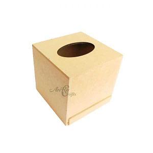 Mdf Square Tissue Box