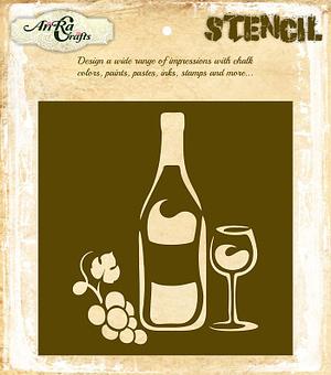 Wine & Dine Stencil