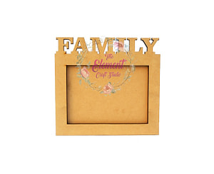 mdf family cutting photo frame