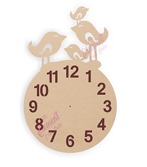wooden wall clock with unique shape