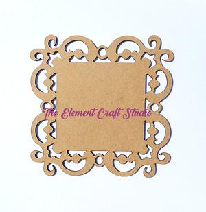Cutwork Coaster Square 1