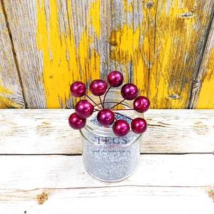Dark Pink Berries 15mm
