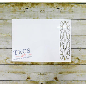 White Acrylic Rectangle Placemat