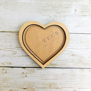 Heart Magnet with Border