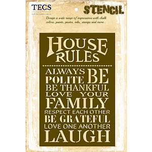 House Rules Stencil