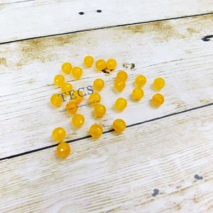 Yellow Natural Agate Stone Beads 8mm