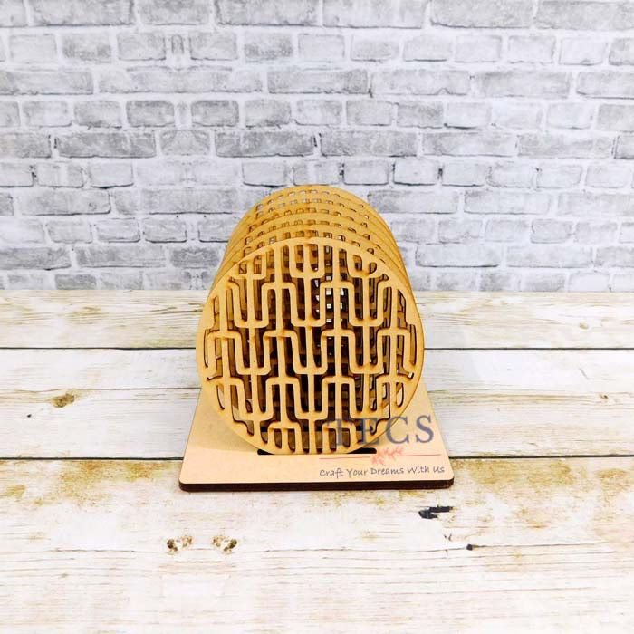 Maze patterned Coaster Set