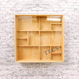 Multiple Partition Shadow Box With Acrylic