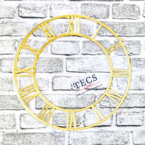 Golden Acrylic Roman Number Clock Dial