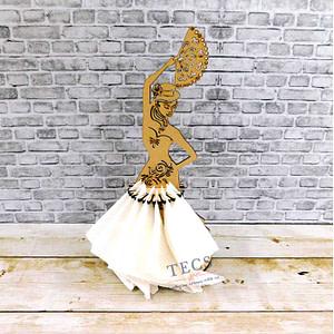 Dancing Lady Napkin Holder