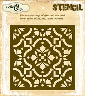 Moroccan Tile Stencil 12