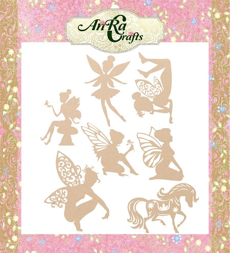 Wooden cutouts with angel shape, mdf made, craft product