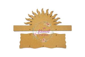 mdf sun shape key-holder